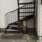 本業である鉄骨階段の補修