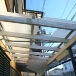 駐車場の屋根補修